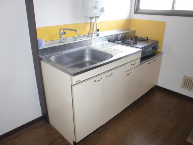 ガスコンロ対応のキッチンです。(キッチン)