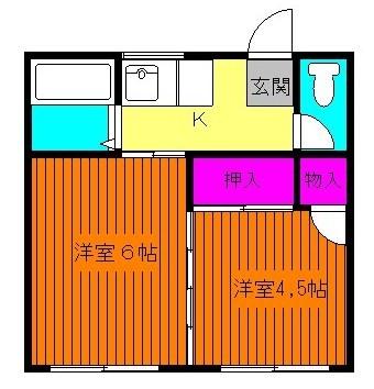 全居室洋室、閑静な住宅街にございます☆(間取)