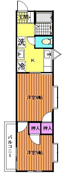1部屋和室の場合有。(間取)