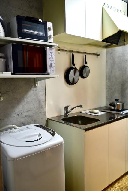 キッチンの様子。室内洗濯機置き場ございます!(キッチン)