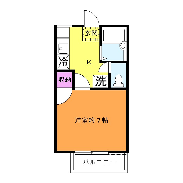 バス・トイレ別☆2階角部屋です!(間取)