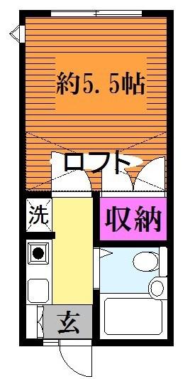 ロフト付、2階のお部屋になります☆(間取)